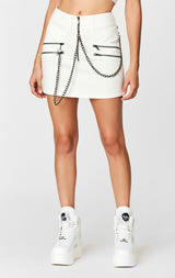 MULTI ZIP CHAIN SKIRT