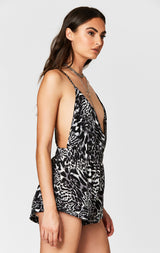 MILLAU CHAIN NECKLACE LEOPARD ROMPER