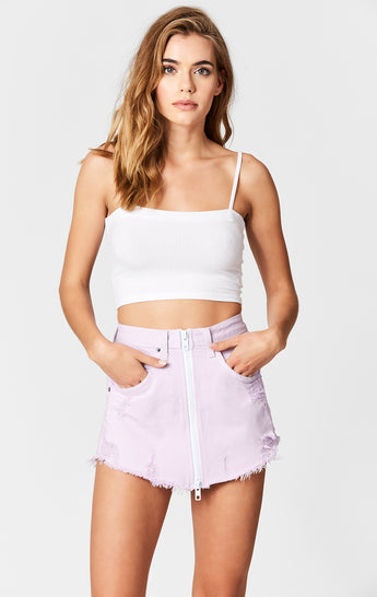 LILAC BEATRICE ZIP FRONT SKIRT
