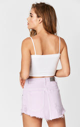 Carmar Denim: LILAC BEATRICE ZIP FRONT SKIRT - SKIRTS