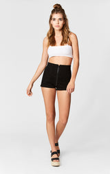Carmar Denim: ANGELICA HIGH RISE ZIP FRONT SHORTS - SHORTS