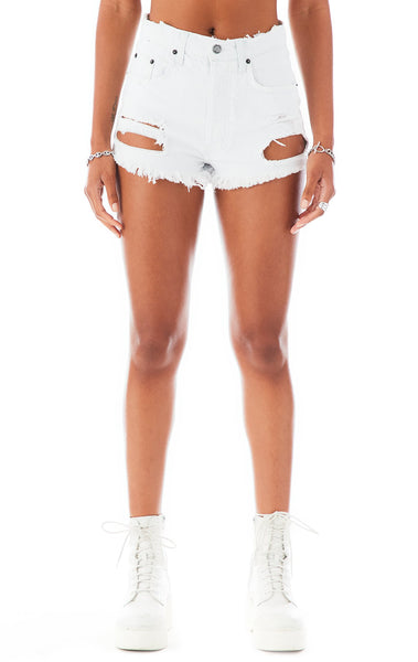 TITANIA GASPEITE DENIM SHORTS
