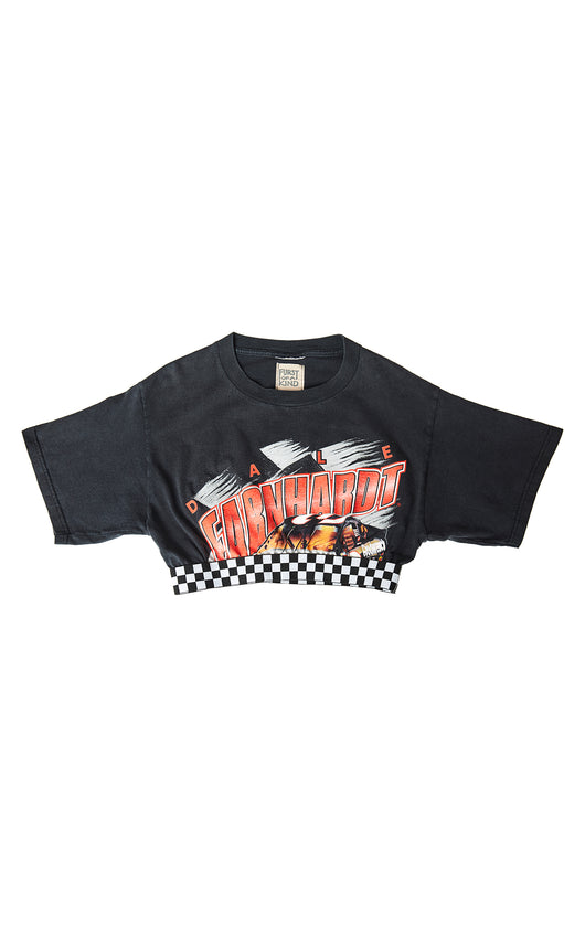 Carmar Denim: CHECKERED CONTRAST CROP TEE - VINTAGE TEE