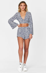 MILLAU PRINTED LONG SLEEVE TOP