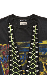 Carmar Denim: BUNGEE LACE UP SLEEVELESS TEE - VINTAGE TEE