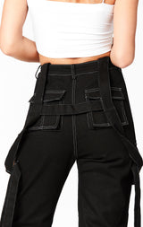 Carmar Denim: CONTRAST CARGO PANT WITH BUCKLE HARNESS STRAP - PANT