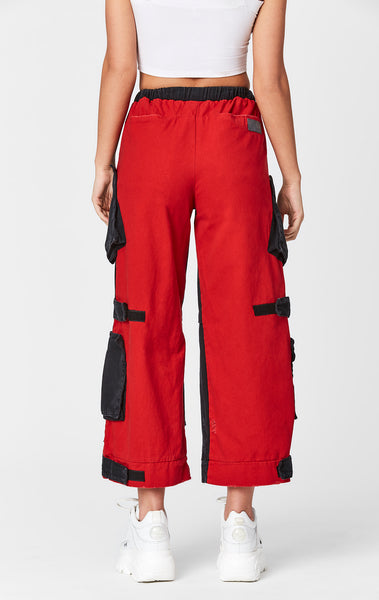 COLORBLOCK WIDE LEG CARGO POCKET PANT