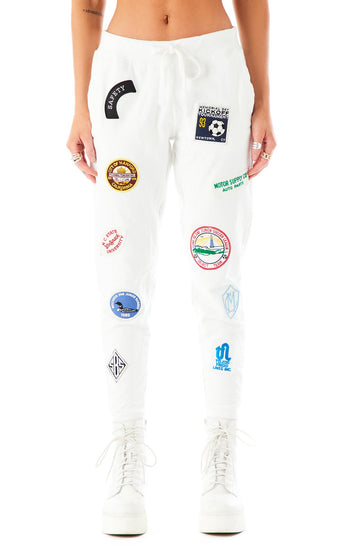VINTAGE PATCH SWEATPANTS 1