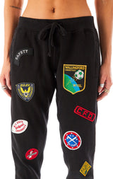 VINTAGE PATCH SWEATPANTS BLACK 3