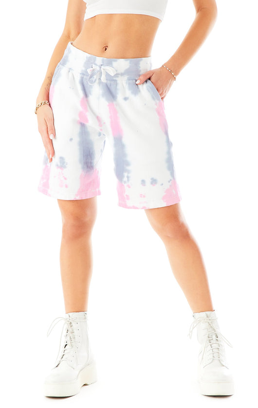RAINDROP TIE DYE SWEAT SHORTS