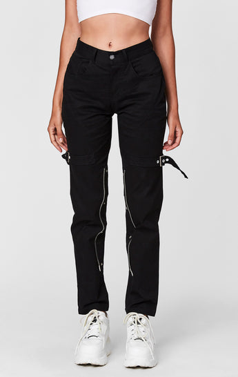 EXPOSED SNAP BUTTON PANT