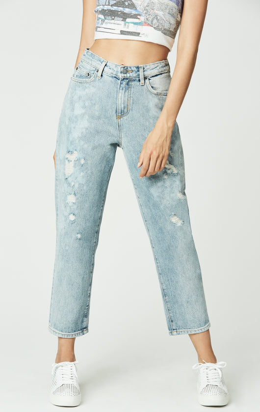 Carmar Denim: NARNE HERMIA BLEACHED AND DISTRESSED JEAN - JEANS