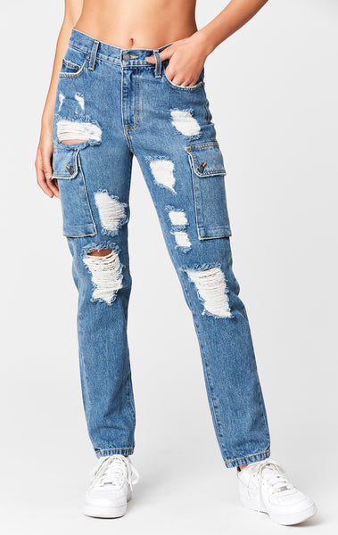 ALEXANDER CARGO SIDE POCKET HIGH RISE JEAN