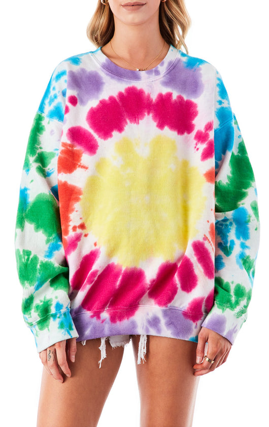 CIRCLE TIE DYE CREW NECK SWEATSHIRT