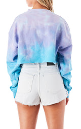 SEA CLOUD TIE DYE CROP SWEATSHIRT