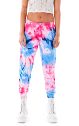 LARGE SPIRAL TIE DYE SWEATPANTS