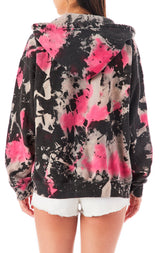 CLOUD TIE DYE ZIP UP SWEATSHIRT