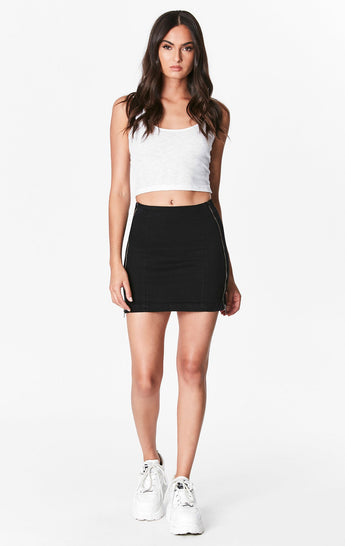 MARGERY DOUBLE SIDE ZIP SKIRT