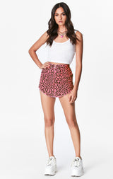 NEON PINK CHEETAH BEATRICE ZIP FRONT SKIRT