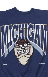 STONEWASHED CARTOON COLLEGE SWEATSHIRT