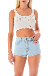 CARNELIAN RHYORITE DENIM SHORT