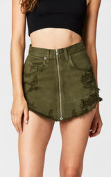 Carmar Denim: OLIVE BEATRICE ZIP FRONT SKIRT - SKIRTS