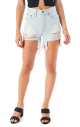 CASSIO ULTRALITE HIGH WAIST DENIM SHORT