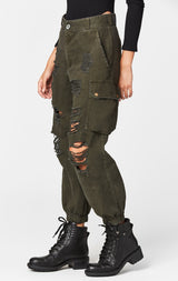 Carmar Denim: BAGGY GRINDED CARGO PANT - IMPORT PANT