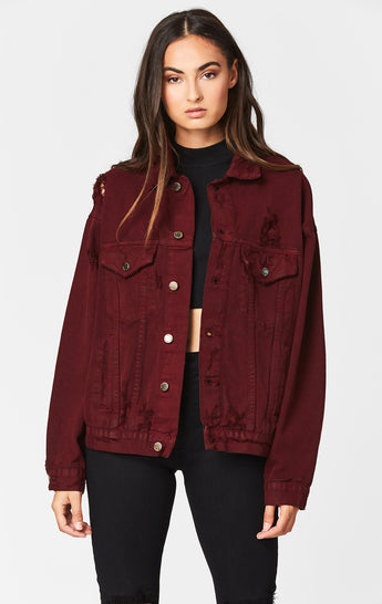 Carmar Denim: AUDREY OVERSIZED DENIM JACKET - DENIM JACKETS
