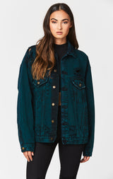 Carmar Denim: AUDREY OVERSIZED DENIM JACKET - JACKETS