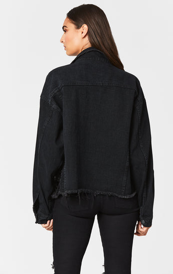 BLACK AUDREY OVERSIZED DENIM JACKET