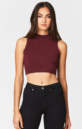 Carmar Denim: MOCK NECK SLEEVELESS RIBBED SWEATER - SWEATER