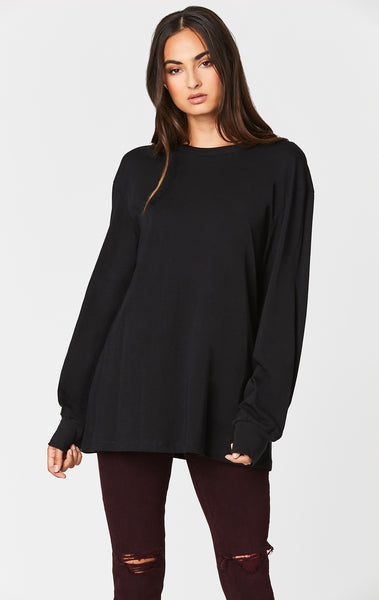 Carmar Denim: OVERSIZED LONG SLEEVE TEE - BASIC TEE