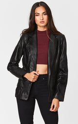 Carmar Denim: LEATHER BLAZER - LEATHER JACKETS