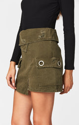 Carmar Denim: FOLDOVER WAISTBAND CARGO POCKET SKIRT - IMPORT SKIRTS