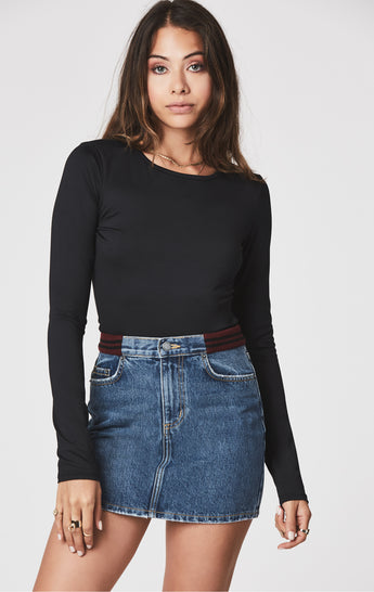 Carmar Denim: COLIN SKIRT WITH ATHLETIC RIBBED WAISTBAND - SKIRTS
