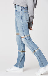 Carmar Denim: BRAZOS HORIZONTAL DOUBLE ZIP JULIET JEAN - JEANS