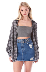 COLIN MAKENNA BELTED DENIM SKIRT