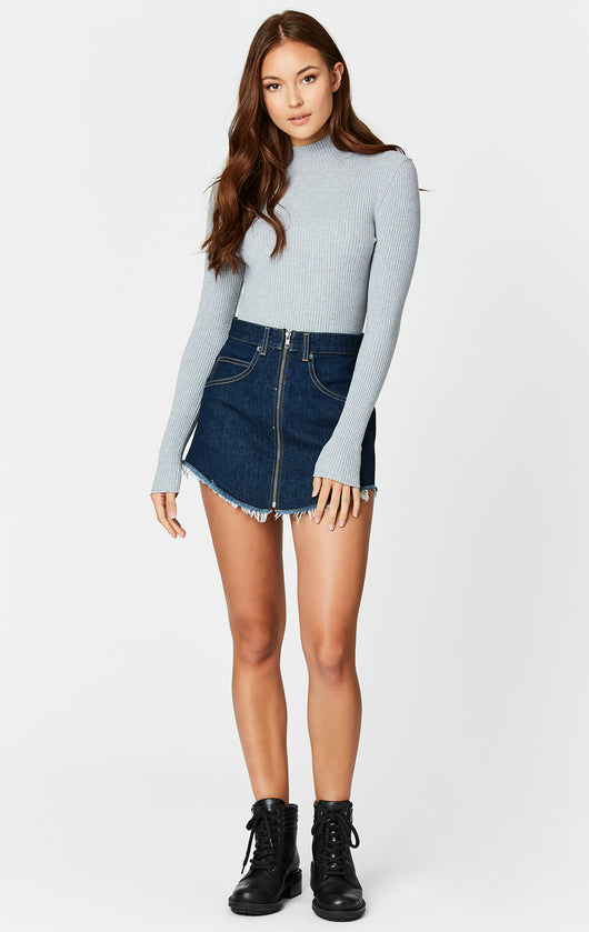 Carmar Denim: MIZAR BEATRICE ZIP FRONT SKIRT - SKIRTS