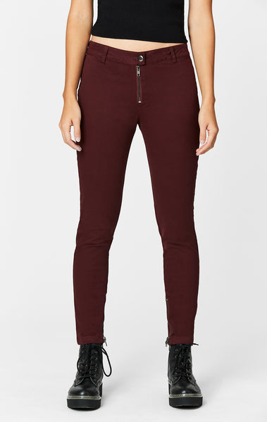 ZIP FRONT FITTED PANT