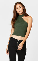 Carmar Denim: CUT OUT SHOULDER SLEEVELESS SWEATER - SWEATER