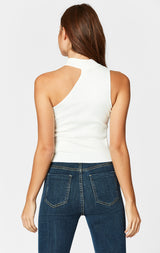 Carmar Denim: CUT OUT SHOULDER SLEEVELESS SWEATER - SWEATER TANK