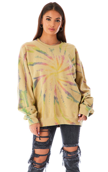 SHOOTING STAR TIE DYE SWEATSHIRT