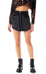 BEATRICE SUPER SHRED DENIM SKIRT