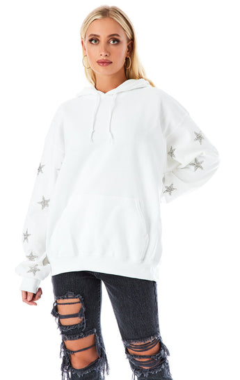 SILVER STAR PATCH CLUSTER HOODIE