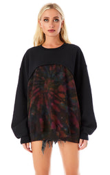 SPLICED KALEIDOSCOPE TIE DYE SWEATSHIRT