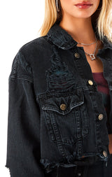 AUDREY CROPPED DENIM JACKET