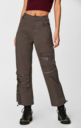 Carmar Denim: CARGO PANT WITH STRAPS AND BUCKLES - PANT