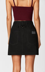 Carmar Denim: OVERSIZED CARGO POCKET SKIRT - SKIRTS