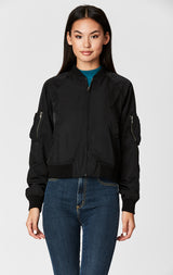 ZIPPER CARGO POCKET BOMBER JACKET